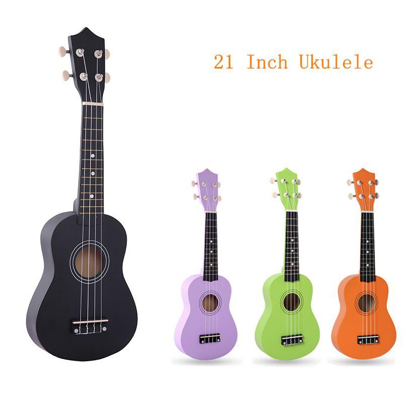 21 Pouce IRIN 12 Frettes Pur Couleur Tilleul Ukulélé Ton Vif 4 Cordes Hawaï Guitare Instruments de Musique Pour Les Débutants