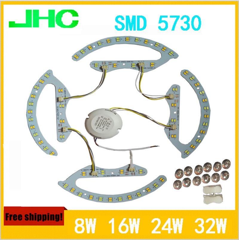 LED double couleur lampe SMD5730 8 W * 2, 16 W * 2, 24 W * 2, 32 W * 2, 3000 K, 4000 K, 6000 K plafond panneau lumineux lampe AC176-264V magnétique
