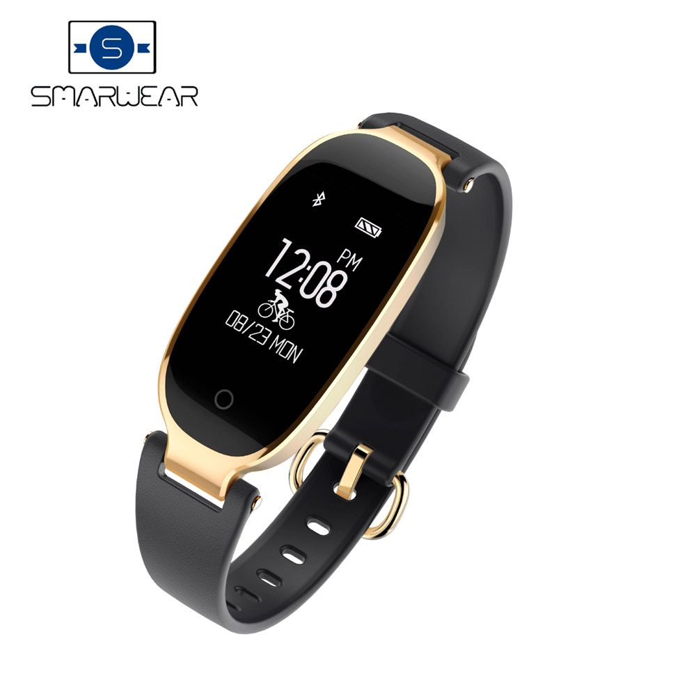 Ssmarwear Heart Rate Smart Band S3 Elegant Female Bracelet IP67 Waterproof Sports Health Fitness Tracker girl's Smart Wristband