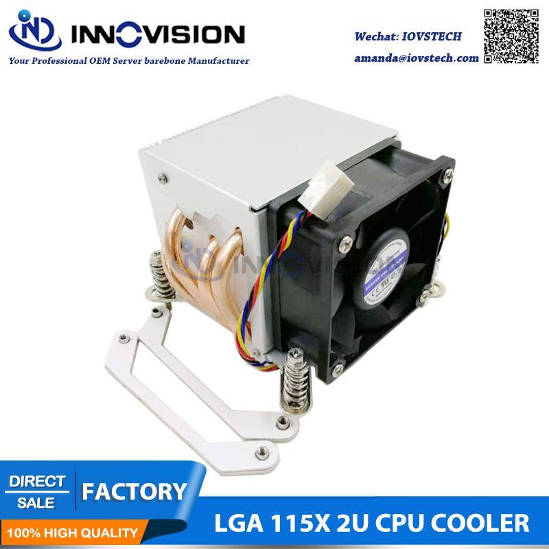 Excellent refroidisseur de processeur avec quatre tuyaux de chauffage pour LGA1150 151 1155 1156 2U/3u/4u serveur poste de travail
