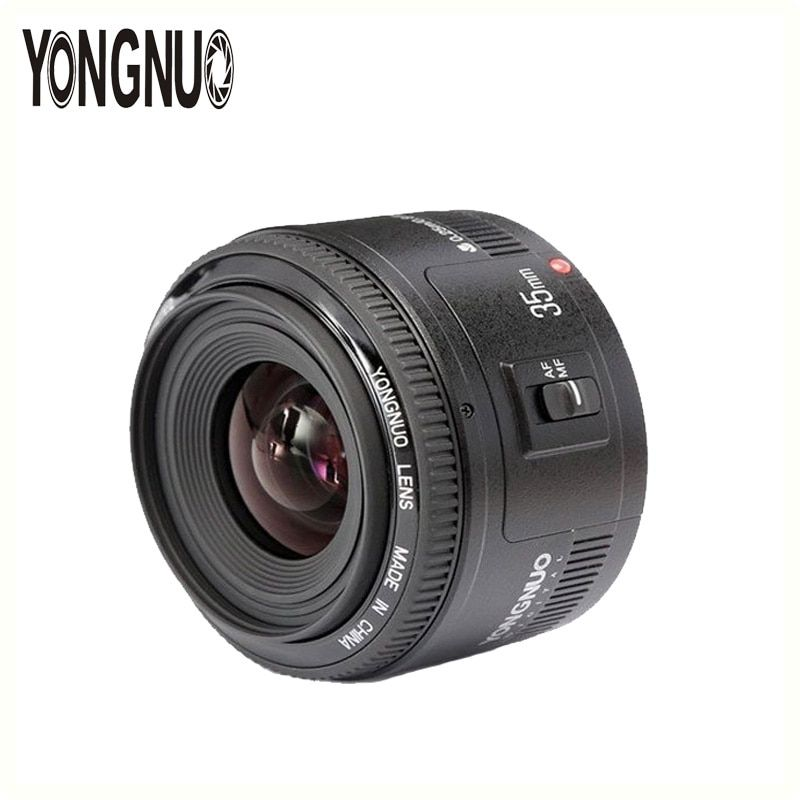 YONGNUO YN35mm Lens 35mm F2 Lens AF/MF Wide-Angle Fixed/Prime Auto Focus Lens For Canon EF Mount 5D III 7D II 6D 60D 70D Camera