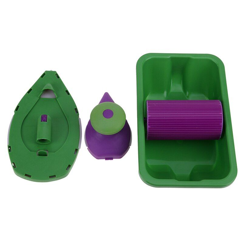 6pcs/set Multi-function Paint Roller Tray Sponge Pads Handles Kits Home Painting Brush Wall Corner Decor Paint Pad DIY Hand Tool