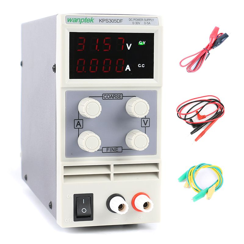 Four display laboratory power supply adiustable,mini Switching power supply uninterruptible 30V 5A KPS 305DF 0.01V/0.001A
