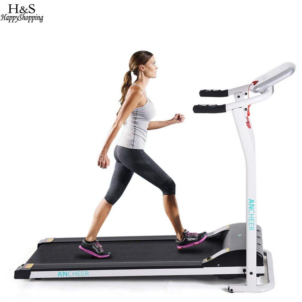 ANCHEER New Electric Treadmill Mini Folding Electric Running Training Fitness Treadmill Home EU US Plug sports fitness