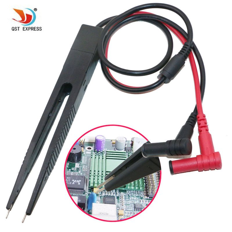 SMD Inductor Test Clip Probe Pinzette für Widerstand Multimeter Kondensator