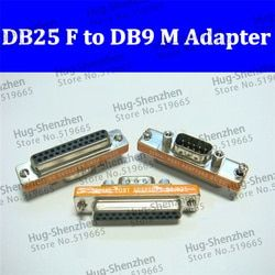 DB25 Female to DB9 Male Adapter D9/D25 Serial Port Adaptor 9Pin Male 25P Female Connector D25/D9 Convert protect joint