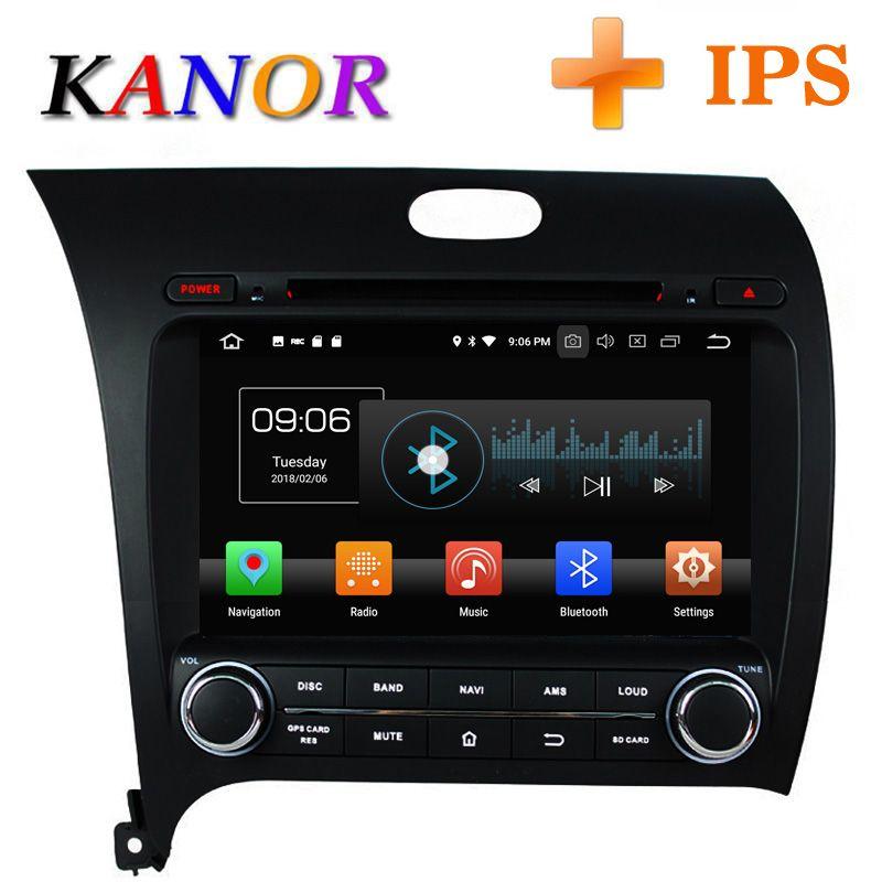 KANOR Android 8.0 Acht Core 4 + 32g IPS 2din Auto Radio Video Player Für KIA Gestalte Forte K3 2013 mit Bluetooth WIFI Audio SWC
