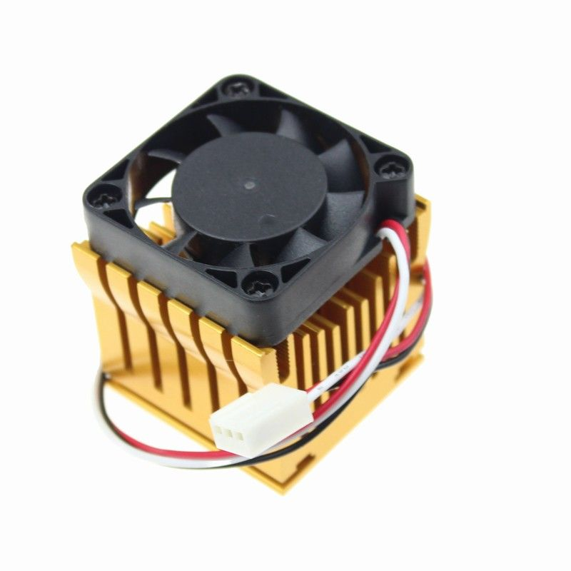 1Piece Gdstime 4010 North Bridge 40x38x36mm with 40mm x 10mm Golden Heatsink And Black DC Fan Cooling Fan Adjustable Heat sink