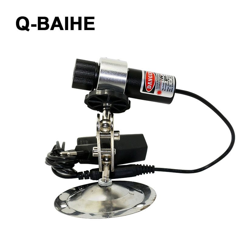 Red laser locator line beam for wood cutting with 360 degree holder EU adapter 650nm 100mW