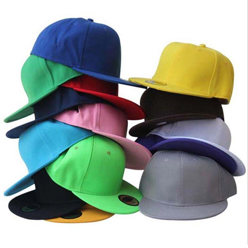 Fermeture complète casquette ajustée fermeture chapeau enfants petite taille 55 cm grande taille 62 cm sport plat bill hip hop camionneur tennis baseball chapeau