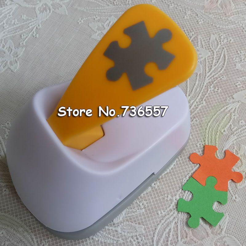 Freies Verschiffen M größe Puzzle förmigen strom sparen papier/eva-schaum handwerk punch Sammelalbum Handarbeit puncher DIY locher puncher
