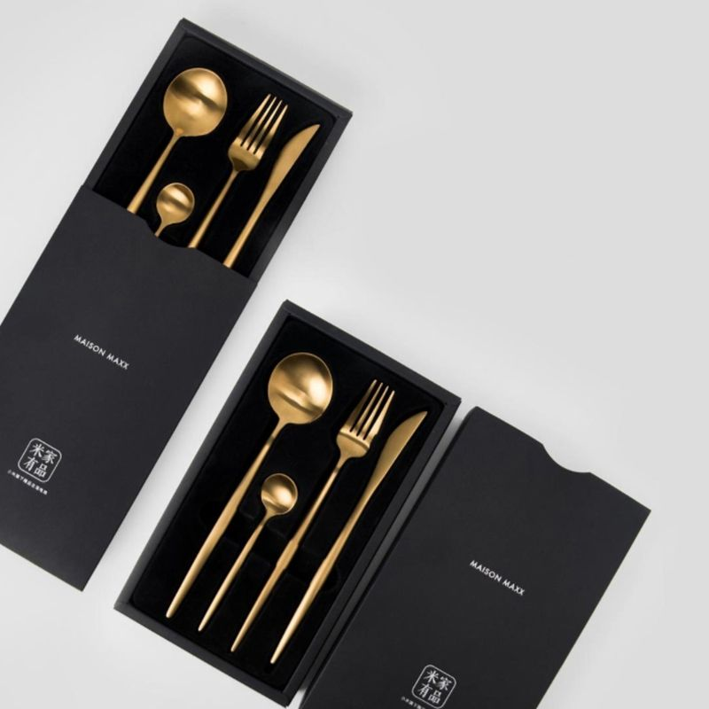 Xiaomi Original Set of cutlery, Spoon, Fork, Knife, Teaspoon High-quality stainless steel, one-piece molding