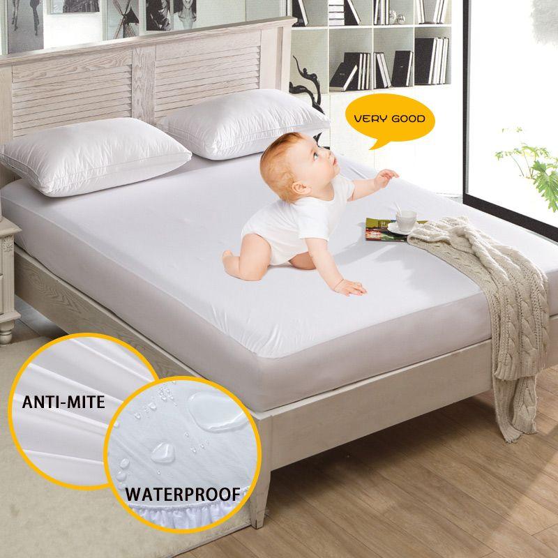160x200 cm Anti-acariens matelas pour lit Protection Pad Lisse Étanche housse protège matelas pour Lit Humide Respirant Hypoallergénique