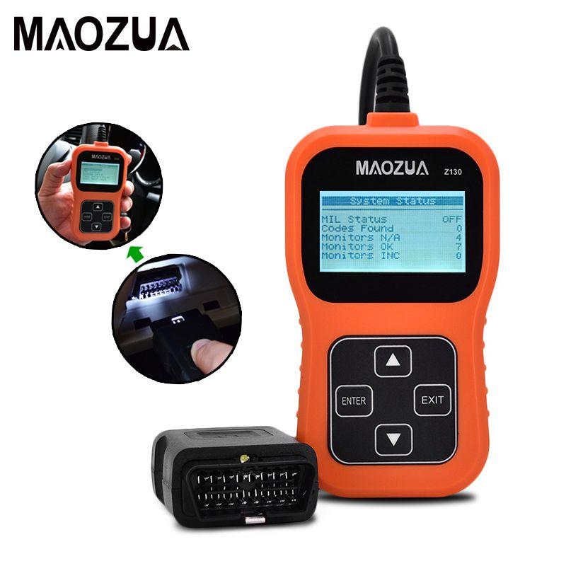 Maozua Z130 OBD2 OBD Scanner automobile voiture outil de Diagnostic lecteur de Code automatique outil de balayage mieux que AD310 ELM327 OM123