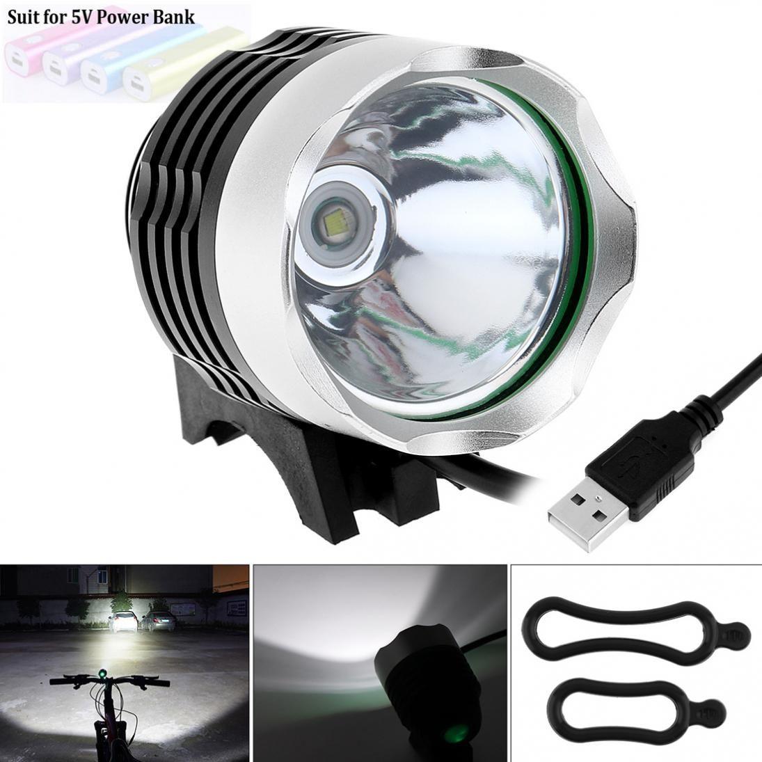 3 Modes USB 500LM LED LB-XL T6 LED Vélo Vélo Phare Lampe En alliage D'aluminium pour Vélo Sport Vélo