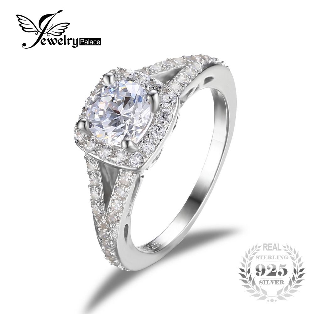JewelryPalace Romantic Engagement Wedding Ring Pure 925 Sterling Silver Jewelry Brand Birthday Present For Grilfriend Fine Gift