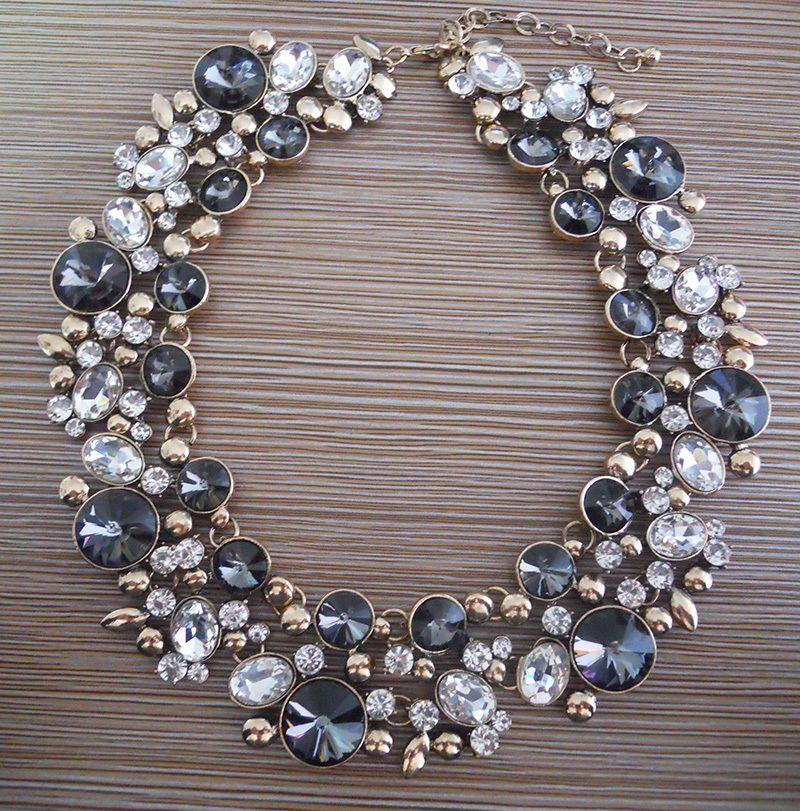 PPG et PGG 2018 Nouveau Bijoux tendance Femmes De Luxe Bijoux Z Marque Cristal Déclaration Bib Foulard Collier colliers strass