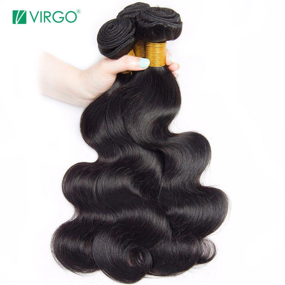Paquets de vague de corps paquet indien d'armure de cheveux humains 1/3/4 paquets vierge Extensions de cheveux Non Remy la couleur naturelle peut être restylée