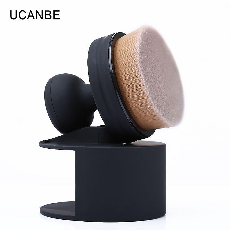 1 pc ucanbe o! cercle Fondation Brosse Crème Poudre Maquillage Brosses 35 Angle Micro Fine Beauté Ovale Pinceaux de Maquillage avec Support