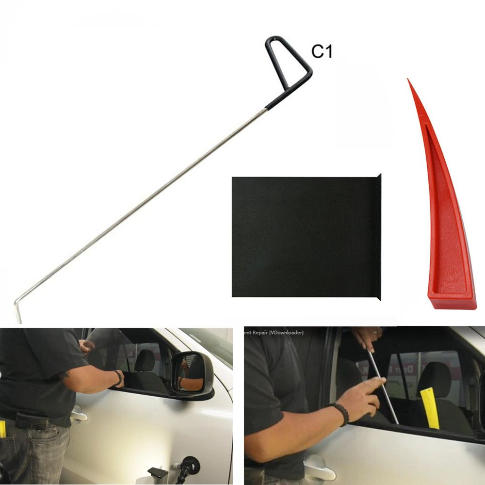 WEYHAA PDR Tools Rod Hooks with Window Guard Red Wedge For Pdr Accessories Paintless Dent Repair