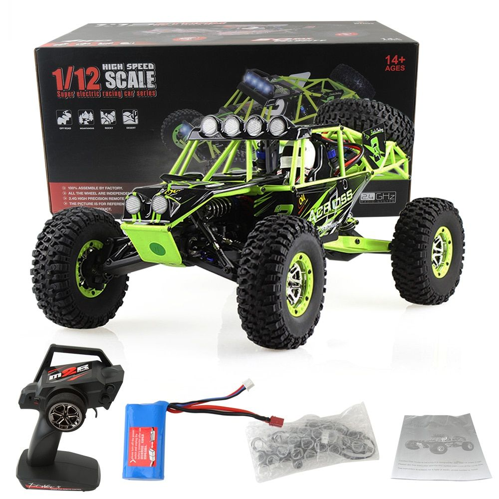 GizmoVine RC Car WLtoys 12428 4WD 1/12 2.4G 50km/h High Speed Monster Truck Radio Control RC Buggy Off-Road RTR Updated Version