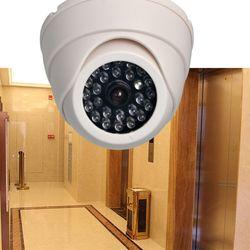 FGHGF домашняя семейная наружная камера видеонаблюдения муляж камеры наблюдения купольная мини-камера манекен 26 мигающий светодиодный свет ...