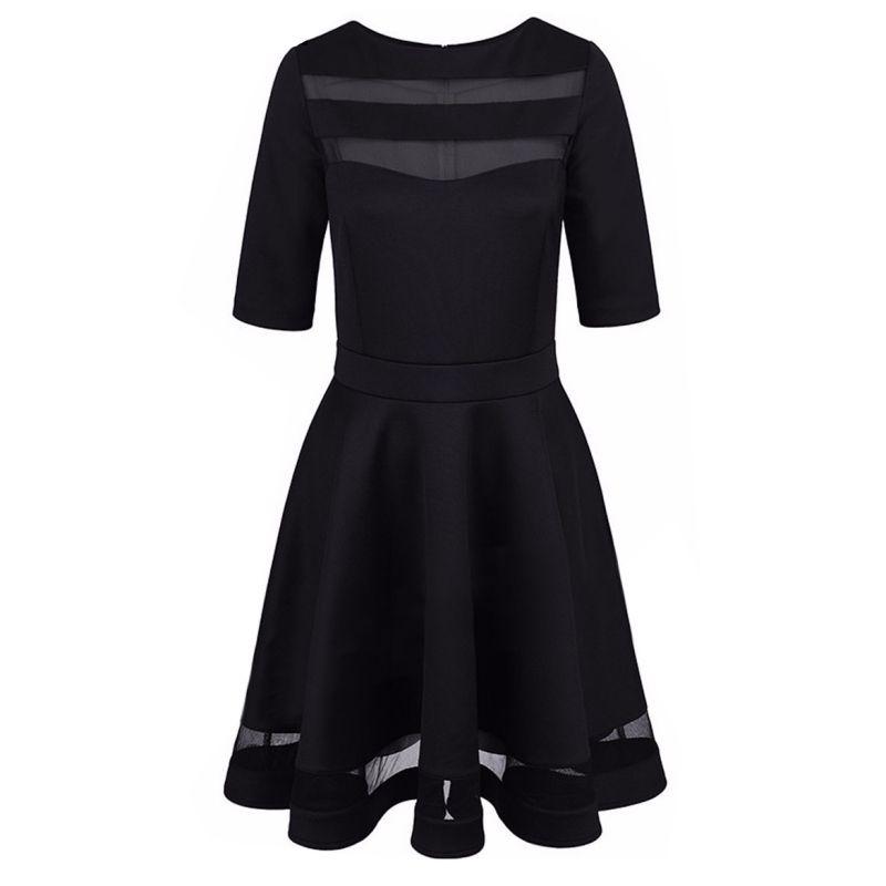 Bandage Sexy robe 2017 été noir robe Style européen dames genou longueur Vintage maille Sexy noir robes de soirée robes