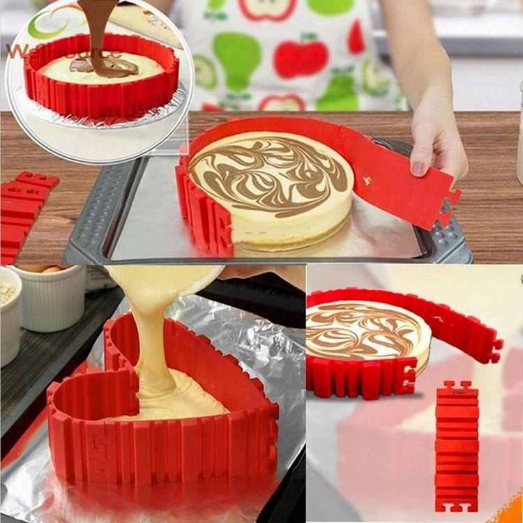 4 шт./лот испечь змея силиконовые формы торт DIY создает любой формы Magic испечь змей антипригарной гибкий силиконовый торт кольцо плесень
