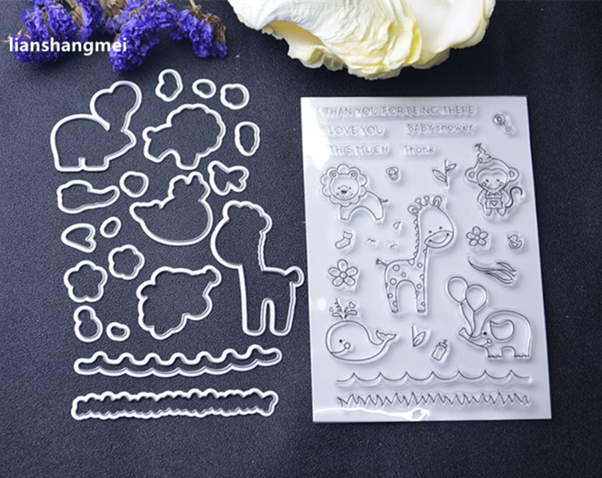 Jirafa/animal Metal Plantillas de Troqueles De Corte y sello DIY Scrapbooking/álbum de foto Decorativo En Relieve DIY Tarjetas De Papel Mak