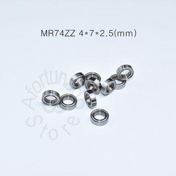 MR74ZZ 4*7*2,5 (мм) 10 штук подшипников из металла запечатанная миниатюра Мини подшипник Бесплатная доставка MR74 MR74ZZ хромированная сталь подшипник