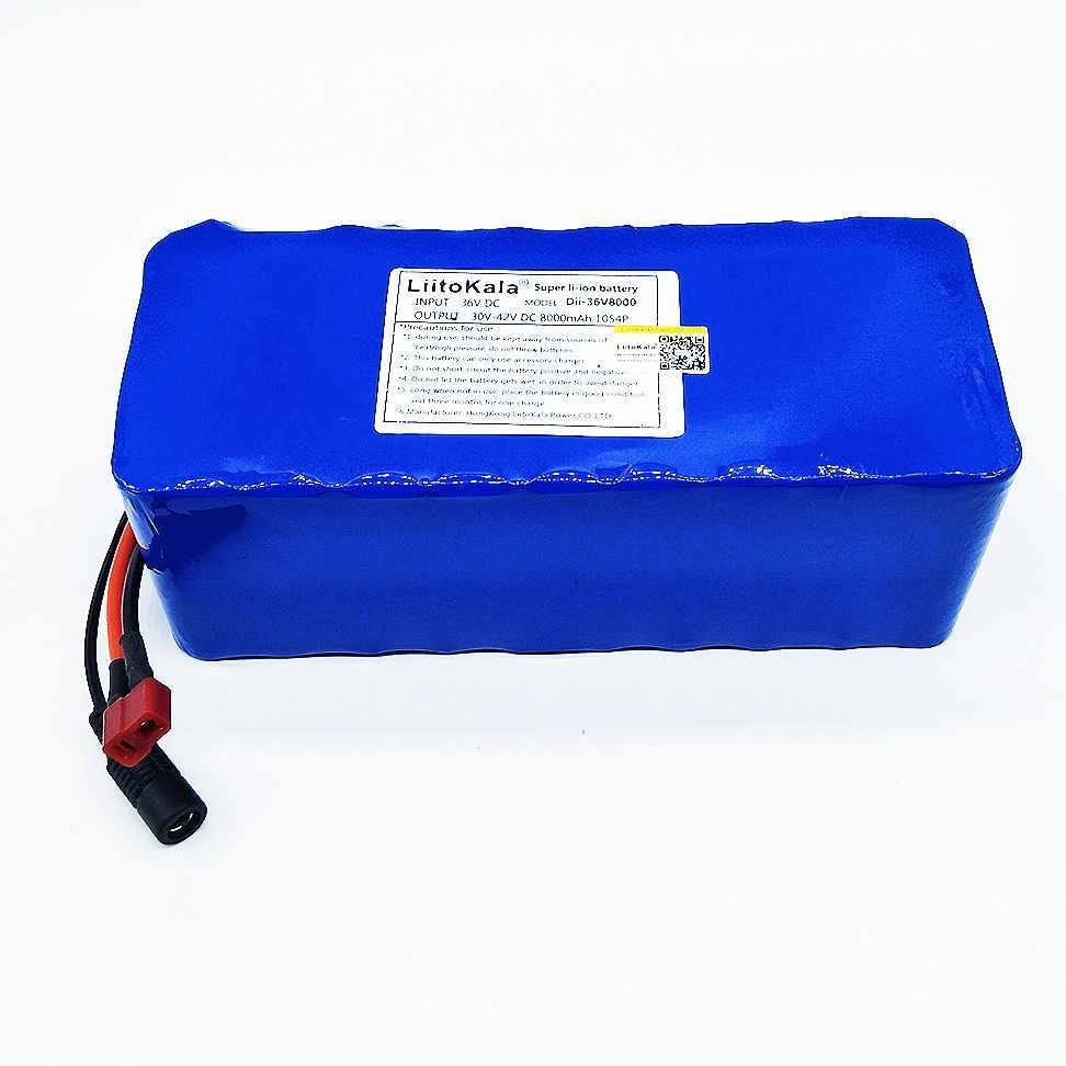 HK Liitokala 36 V 8ah High Capacity Lithium Battery + Mass package do not include 42 v 2A chager