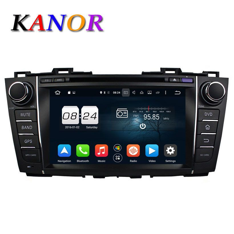 KANOR Android 6.0 Octa Core 4G 32G ROM Car Video Player For Mazda 5 Premacy 2010-2012 GPS Satnavi Headunit Bluetooth WIFI Map