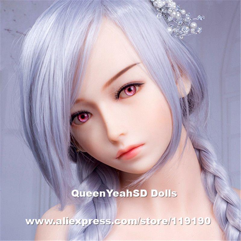 Одежда высшего качества реальные силиконовые Секс-куклы головка для японский кукла любовь головок с устной сексуальный может поместиться ...