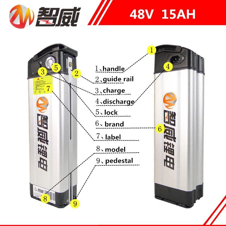 48V 15AH Lithium ion li-ion Rechargeable chargeable battery for electric bicycles (60KM) all devices Power Source (FREE charger)
