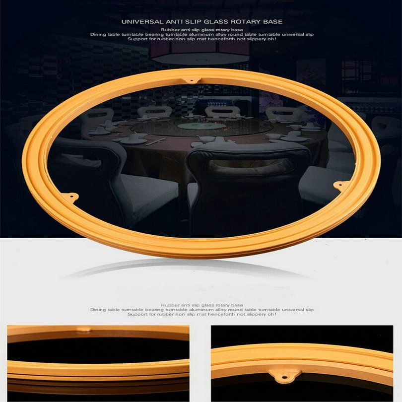 14IN/35CM ABS Engineering Plastic TV Swivel Stand Dining Table Turntable Rotary Base With Steel Bearing Ball