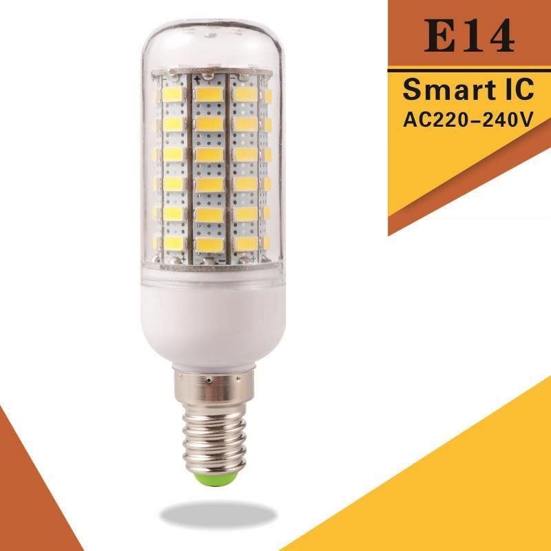 Супер яркий E14 светодиодные лампочки Заменить CFL 5 Вт 12 Вт 15 Вт 20 Вт 25 Вт 30 Вт 220 В 240 В Spotlight 5730SMD 24 36 48 56 69 72leds лампы