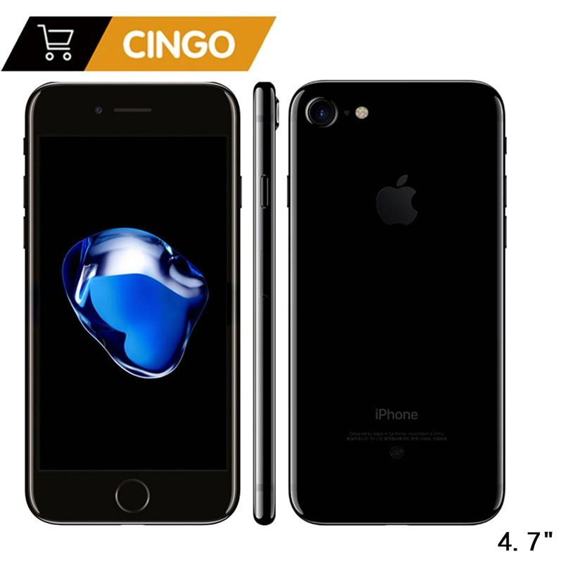 Unlocked Apple iPhone 7 IOS Quad Core 32/128GB/256GB 12.0MP Camera Fingerprint 12MP 2910mA LTE Cell Phone
