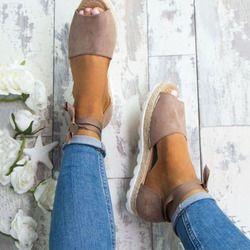 Plus Size 34-44 Flats Sandals Summer Women Sandals Fashion Casual Shoes For Woman European Rome Style Sandale Femme