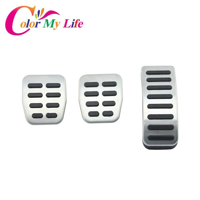 New Stainless Steel MT AT Gas Pedal Pads Car Pedal Cover for VW Polo 6N 9N Jetta MK4 for Bora Golf MK4 Beetle Cabrio Fox
