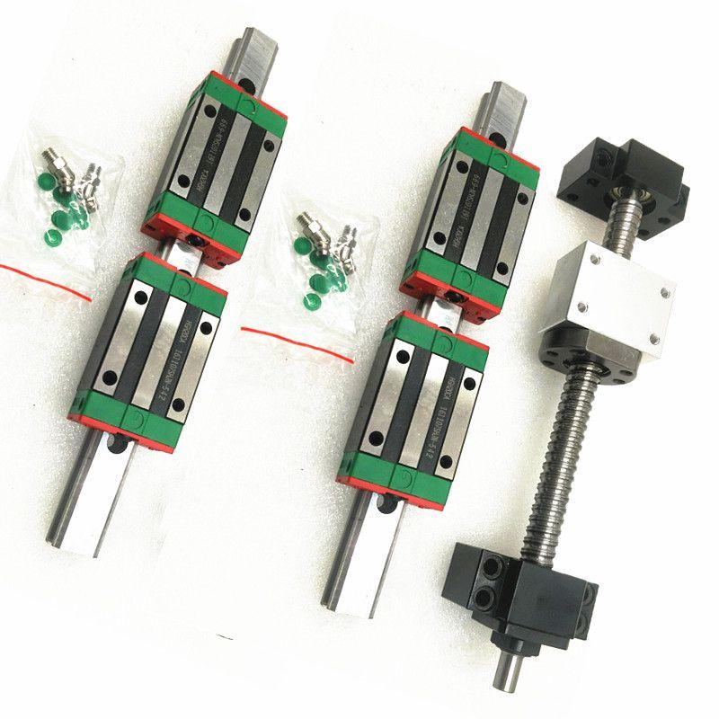 20mm CNC Linear Schiene Set HGR20 2000mm ohne HGW20CA Wagen Block + SFU1605 1500mm + BKBF12 für CNC