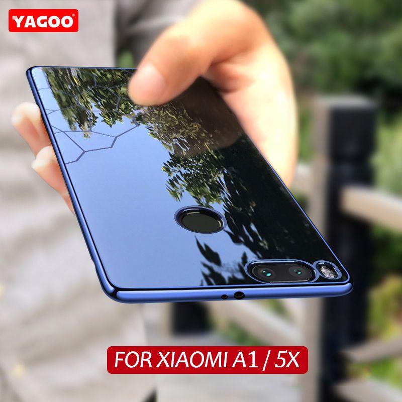 Pour xiaomi mi a1 cas ultra mince pour xiaomi mi cas 5x couverture de luxe silicone TPU pour xiaomi mi a1 cas couverture a1 d'origine yagoo