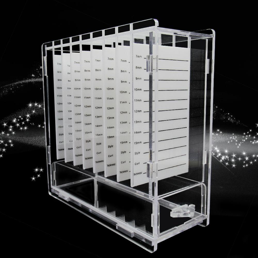 Wimpern Verlängerung Organizer Box Mit 8 stücke Acryl Klebstoff Kleber Paletten Wimpern Extensin Platte Wimpern Verlängerung Liefert