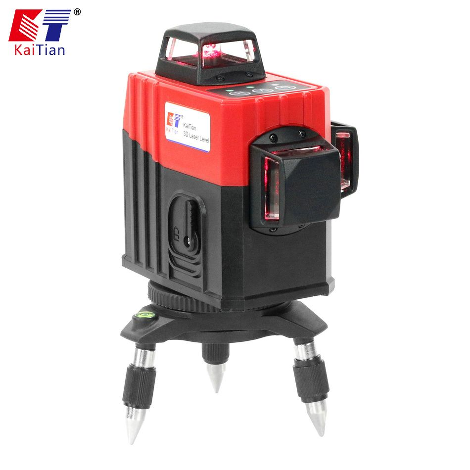Kaitian Nivel Laser Level 3D 12 Lines 8 Lines Green Lazer Level 360 Rotary Construction Tools Vertical Horizontal Niveau Laser