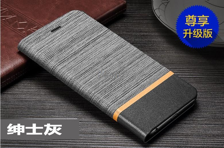 Flip Case for Meizu Pro 6 Plus PU+TPU Cover Inner Wallet Canvas Lines Card Slot Stand Leather Shell for Meizu Pro 6 Plus 5.7inch