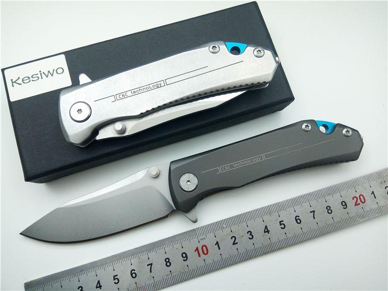 KESIWO KS087 couteaux pliants 9Cr18Mov lame couteau poignée en acier poche extérieure Camping couteau de survie tactique EDC