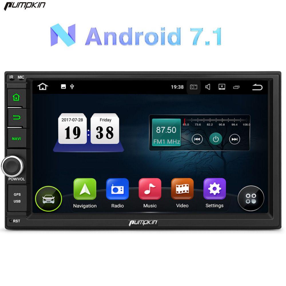 Pumpkin 2 Din Android 7.1 Univeral Car DVD Player GPS Navigation Car Stereo FM Rds Map Wifi Radio 3G USB Bluetooth Headunit