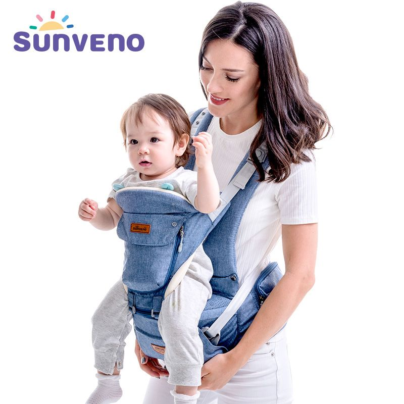 SUNVENO Baby Carrier Front Facing Baby Carrier Comfortable Sling Backpack Pouch Wrap Baby Kangaroo Hipseat For Newborn 0-36 M