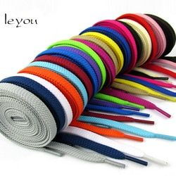 Leyou New Sneaker Flat Shoelaces Hiking Boots Shoe Strings Colored Shoe Laces for Sneakers Laces Drop Shipping