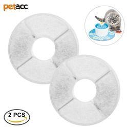 Petacc 2 pcs Multi-Fonctionnelle Automatique Chien Chat Eau D'alimentation Accessoires Pet Fontaine Filtre Filtre À Charbon actif