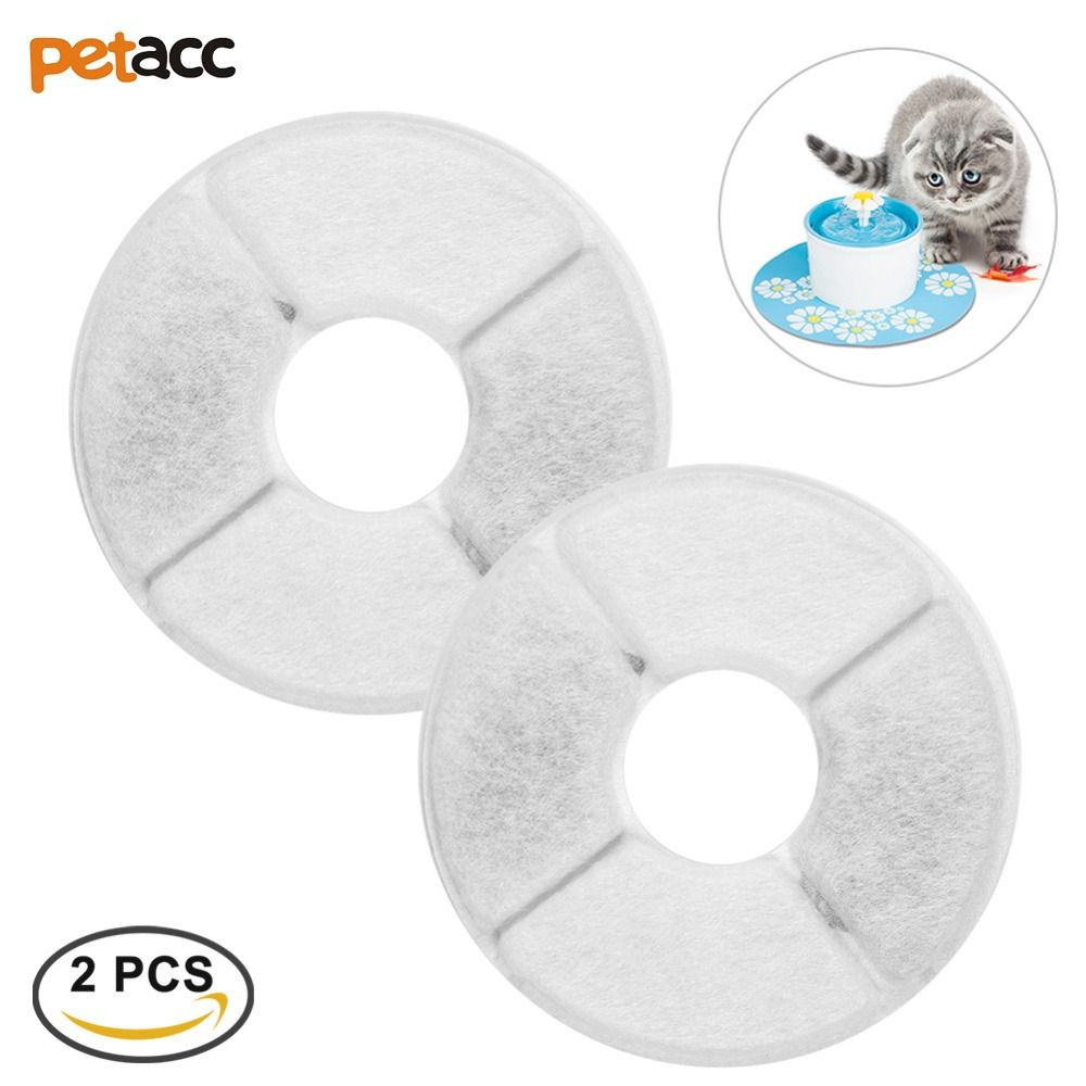 Petacc 2pcs Multi-Functional Automatic Dog Cat Water Feeder Accessories Pet Fountain Filter Activated Carbon Filter